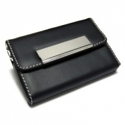 Leather Folding Pocket Card Case