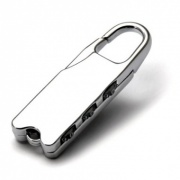 Silver Plated Padlock Keyrings