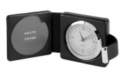 Leather Bound Travel Clock & Frame