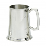 1PT Two Line English Pewter Tankards