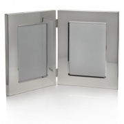 Silver Plated Double Picture Frames (4x6in)