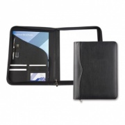 Black Houghton PU Leather A4 Zipped Conference Folder
