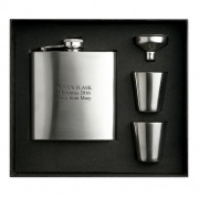 Stainless Steel Hip Flask Set in Box