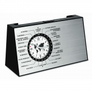 Spinning World Time Clock with Card Holder