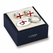 England Cufflinks & Keyring Set (Oval)