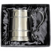 Cast Celtic Pewter Tankard in Lined Box