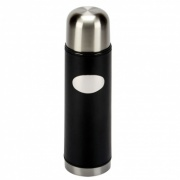 Black Leather Covered Vacuum Flask