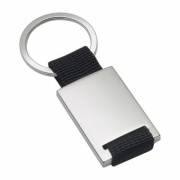 Promotional Metal Keyring with Black Fabric