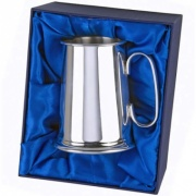 Silver Plated Tankard with Presentation Case