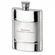Satin Band 4oz Pewter Flask