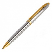 Chrome and Gold Plated Ballpoint Pen