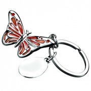 Silver Plated Butterfly Keyring