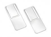 Pair of Rectangular Silver Plated Bookmarkers