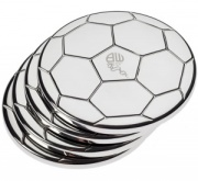 Set of 4 Silver Plated Football Coasters