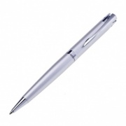 Chrome Ballpoint Pen with Curved Clip