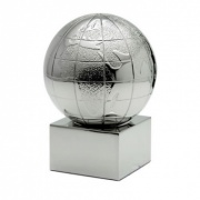 Silver Plated Globe Paperweight