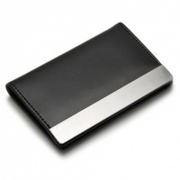 Black PU Leather Card Case