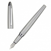 Matt Silver & Chrome Fountain Pen