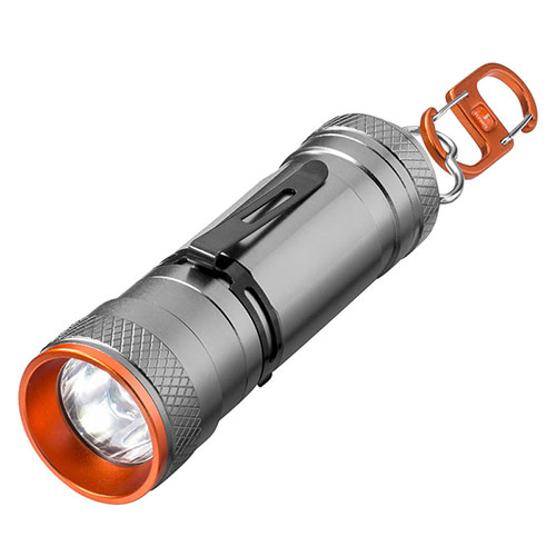 Dual LED Torch Lantern in Grey & Orange