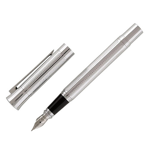 Silver Plated Patterned Fountain Pens