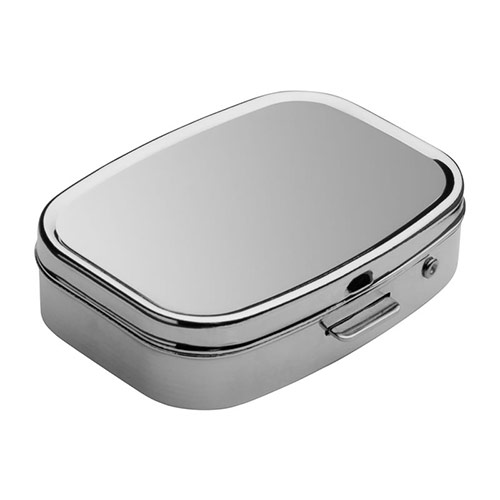 Promotional Metal Two Compartment Pillbox