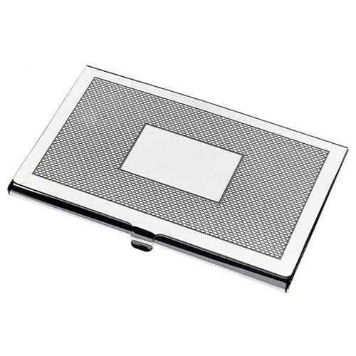 Barley Pattern Silver Plated Business Cards Case