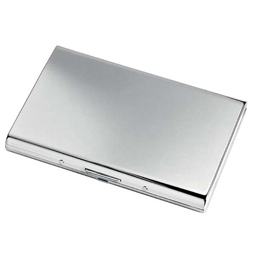 Chrome Plated Pocket Cards Case