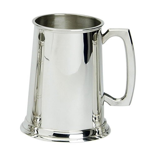 1PT Straight Sided Pewter Tankards