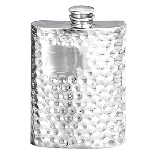 4oz Hammered Pewter Flasks