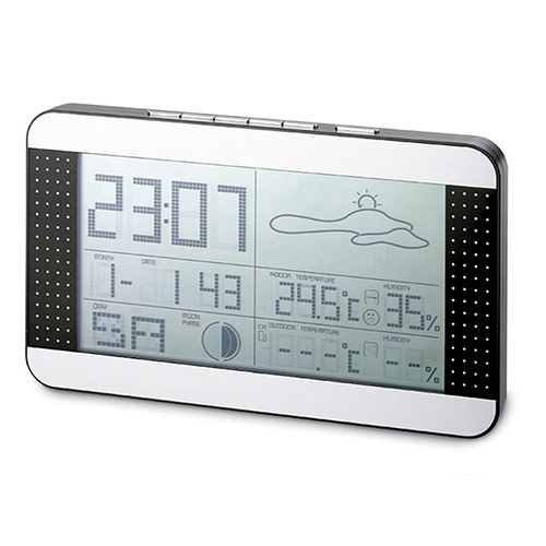 Flat Multifunction Clock & Weather Station