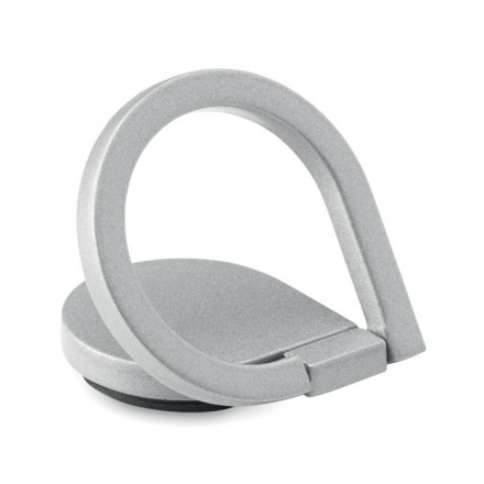 Phone Finger Grip Drop Ring Stand in Silver Colour
