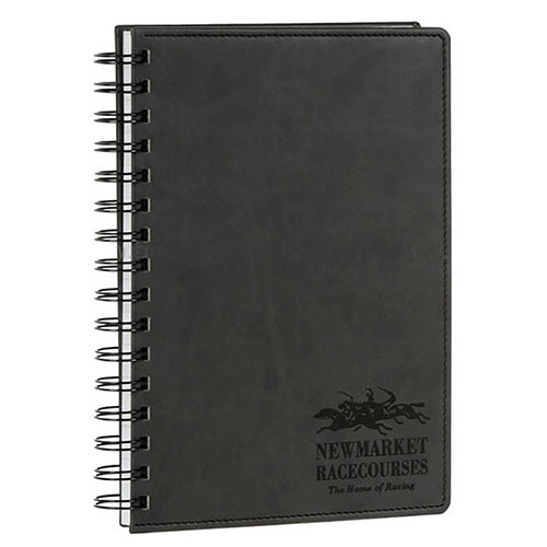 Engraved Leather A5 Notebook