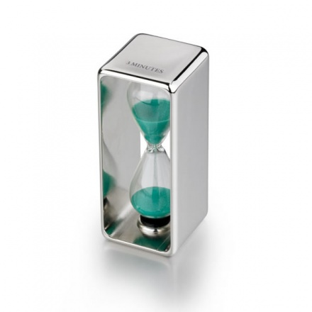Glass Sand Timer in Silver Plated Frame