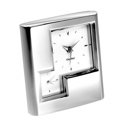 Silver Plated Dual Time Alarm Clocks