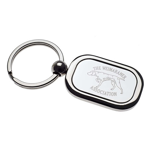 Chrome Plated Rectangle Keyring