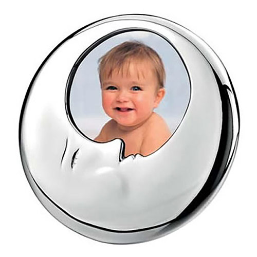 Silver Moon Face Photo Frame