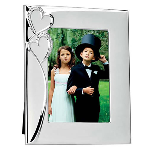 Two Heart Silver Photo Frame