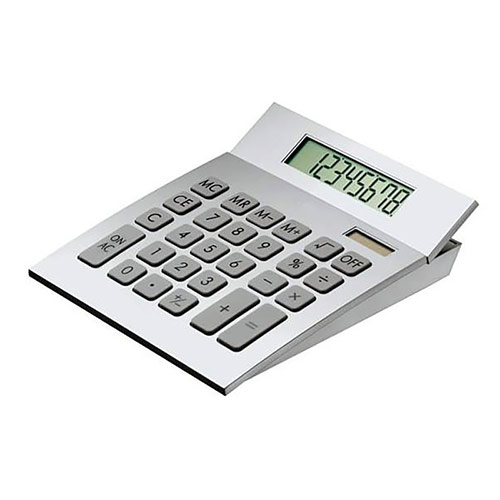 Aluminum Desktop Calculator with Hinged Display