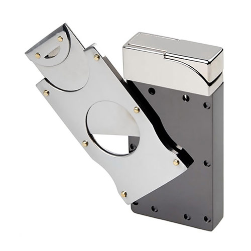 Lighter with Cigar Cutter
