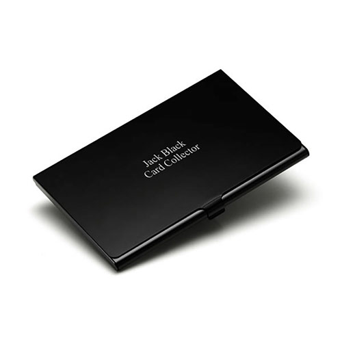 Black Finish Aluminum Business Card Holder