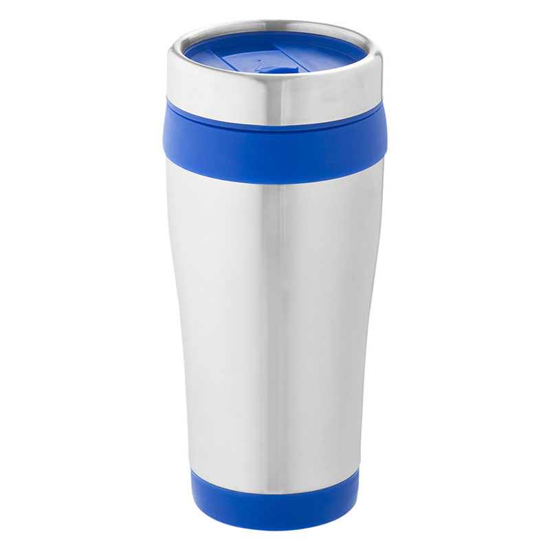 470ml Insulated Tumbler in Silver & Blue