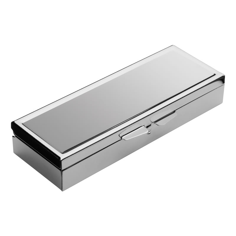 Metal 3 Compartment Pill Box with Silver Finish