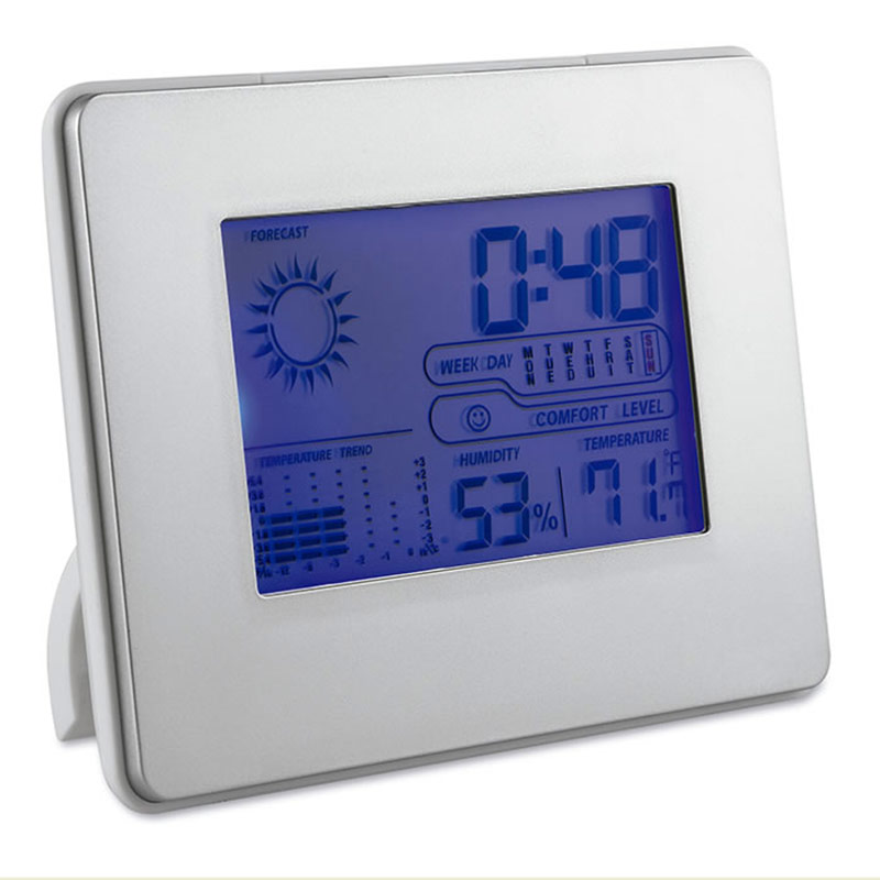 Alarm Clock / Weather Station with Folding Stand
