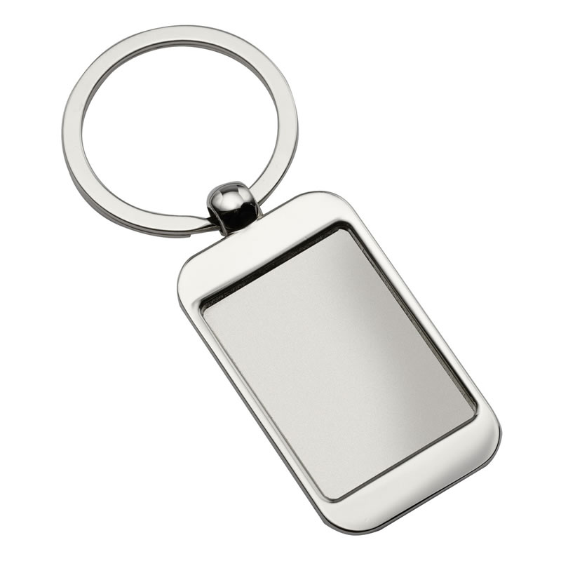 Promotional Metal Keyring in Matt Silver Finish