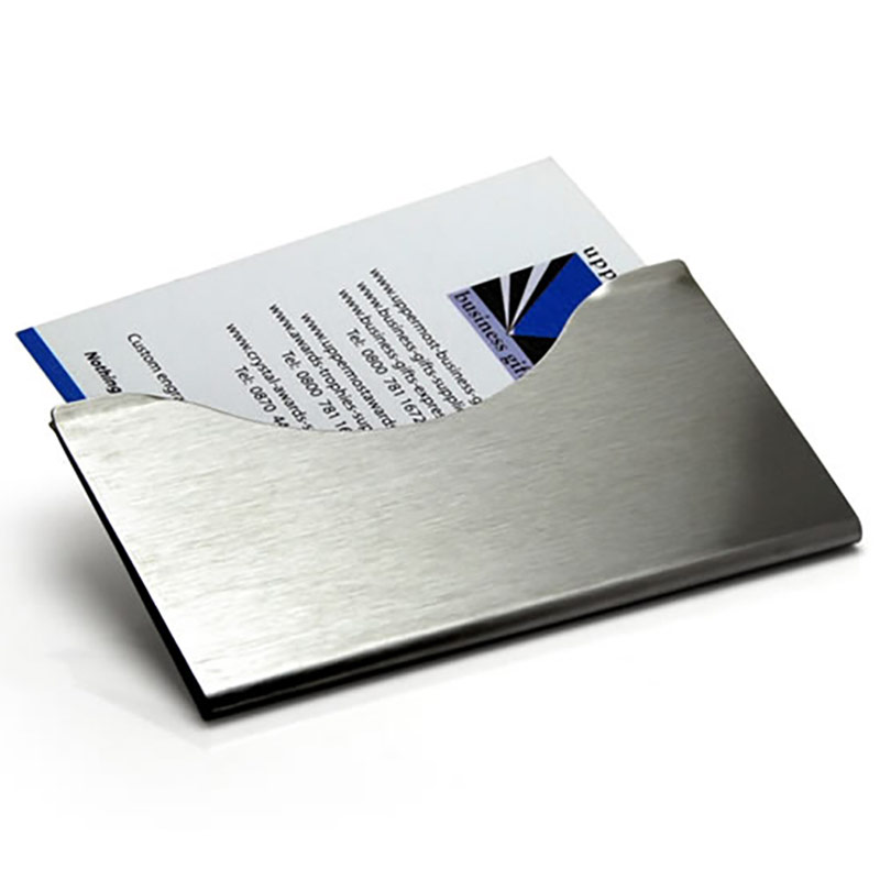 Brushed steel business card case business gifts supplier brushed steel business card case reheart Image collections