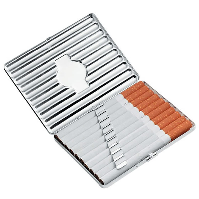 Engraved Silver Plated Cigarette Case