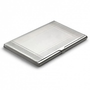 Silver Plated 'Deco' Business Card Cases