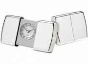 Silver Plated Travel Alarm Clock