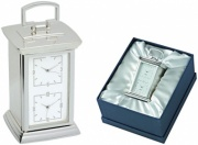 Silver Plated 'Double Time' Clocks