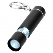 Keychain with Black LED Torch & Light